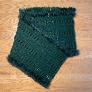 NWOT Rudsak Green Infinite Scarf with Fur